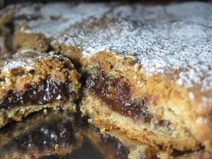 frolla di castagne con pere e cioccolato