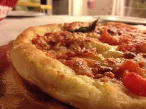 pizza con autolisi