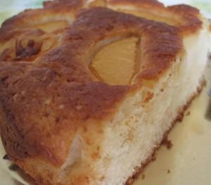 torta ricotta e pesche
