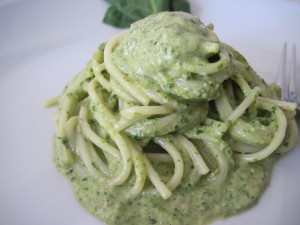 pesto di spinaci crudi