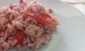 riso pilaf con fragole